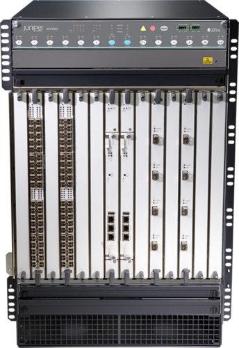MX960 маршрутизатор передняя панель под углом