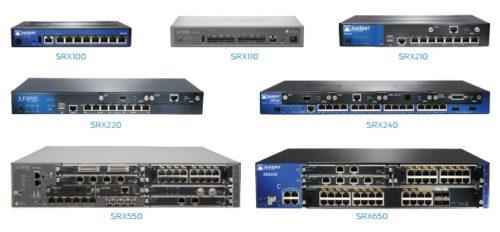 SRX100, SRX110, SRX210, SRX220, SRX240, SRX550, SRX650